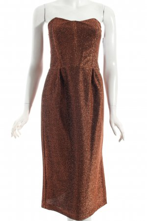 Bustierkleid bronzefarben Metallic-Optik
