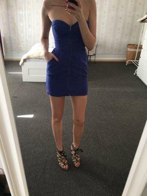H&M Vestido bustier azul