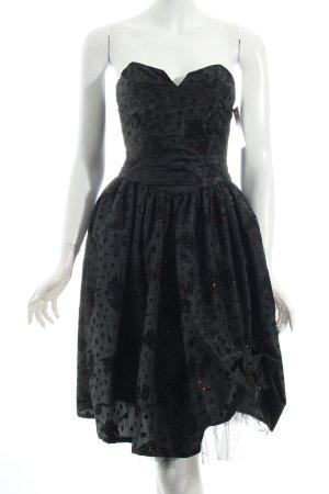 Vestido bustier negro brillante