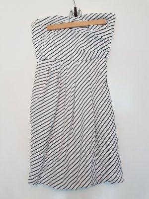 Zara Basic Vestido bustier blanco-taupe