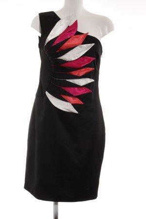 Butik One-Shoulder-Kleid mehrfarbig extravaganter Stil