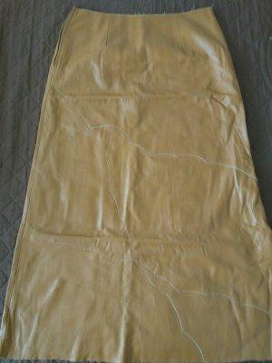 Falda de cuero marrón Cuero