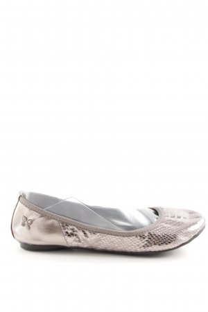 Butterfly twists Foldable Ballet Flats silver-colored casual look