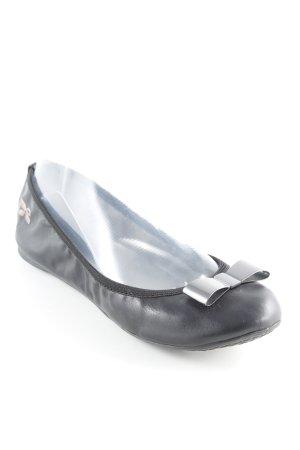 Butterfly twists faltbare Ballerinas schwarz-silberfarben Metallelemente
