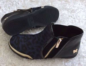BUTTERFLY TWISTS Sneaker Alexis Leder schwarz Leopard Style Gr. 37 wie Neu