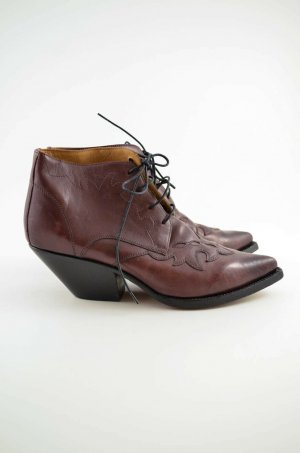 Buttero Western Booties bordeaux-black leather