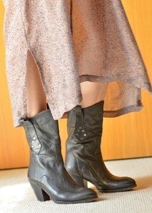 Buttero Western Booties anthracite-dark grey leather