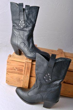 BUTTERO Slouch 37 Stiefel Anthrazit Western Cowboy Retro Vintage