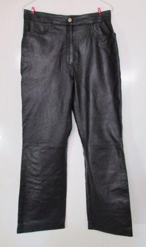 Calvin Klein Pantalón de cuero negro Cuero