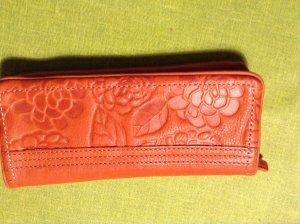 Fossil Portefeuille rouge cuir