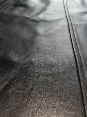 Zero Leather Skirt black