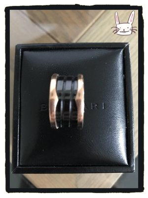 BVLGARI B.zero1 Ring Roségold mit Keramik