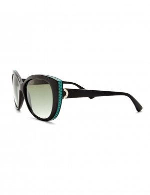 Bvlgari Damen Sonnenbrille BV8169Q Black Green Gradient Cat Eye