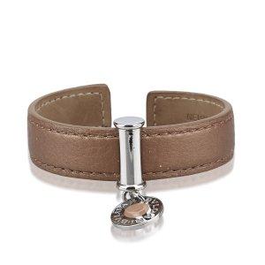 Bvlgari Leather Cuff Bracelet