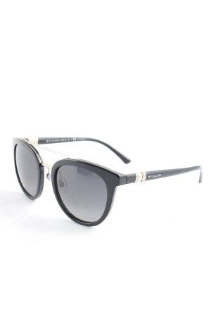 Bvlgari runde Sonnenbrille schwarz Elegant