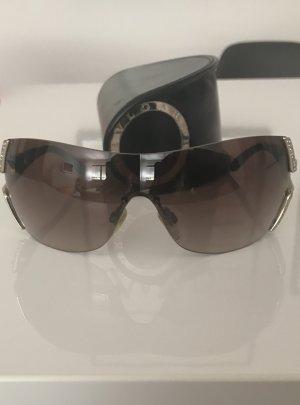Bvlgari Sonnenbrille mit Schmucksteinbesatz am Bügel ohne Rahmen