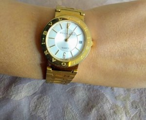 Bulgari Analog Watch gold-colored