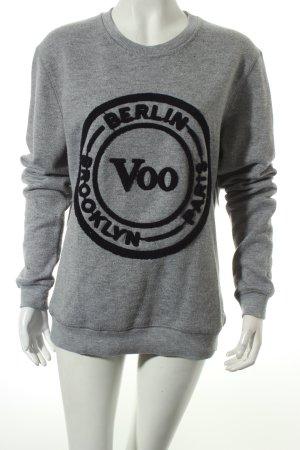 BWGH for Voo Wollpullover hellgrau Logo-Applikation