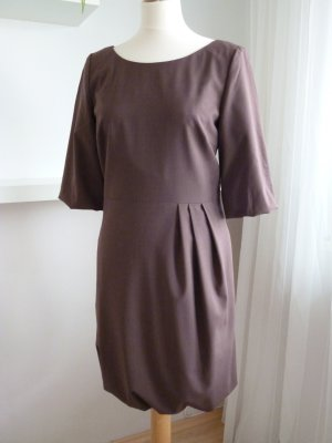 Balloon Dress brown red
