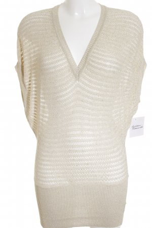 By Laetitia Short Sleeve Sweater gold-colored-cream loosely knitted pattern