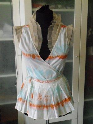 BY MALENE BIRGER Bluse Gr 36 100% Baumwolle Batik top Zustand