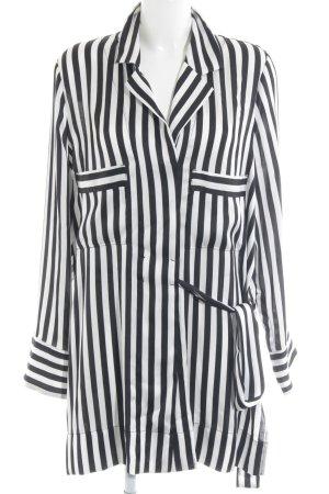 by Malene Birger Blusenkleid schwarz-weiß Streifenmuster Elegant
