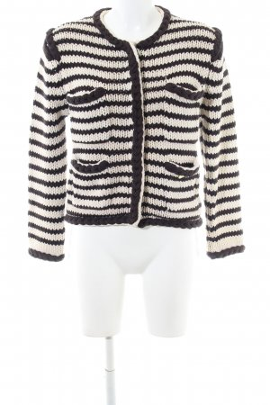 by Malene Birger Coarse Knitted Jacket natural white-brown striped pattern