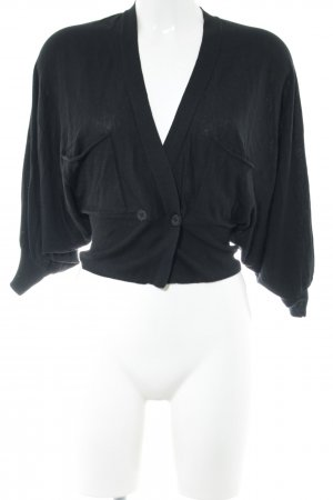 by Malene Birger Kurzarmstrickjacke schwarz Business-Look