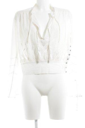 by Malene Birger Langarm-Bluse creme Boho-Look