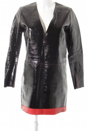 by Malene Birger Lederkleid schwarz-rot extravaganter Stil