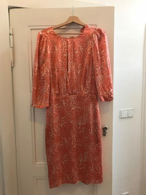 By Malene Birger Leopard Kleid orange Seide & Spitze