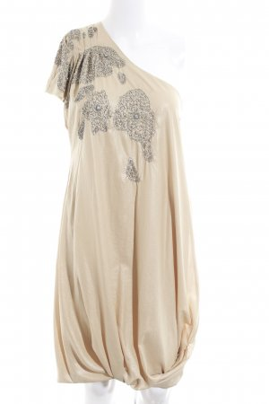 by Malene Birger One-Shoulder-Kleid beige Schimmer-Optik