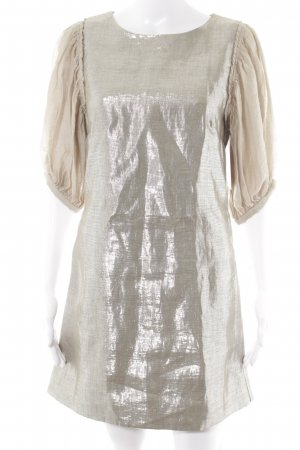 by Malene Birger Pailettenkleid silberfarben-beige Party-Look
