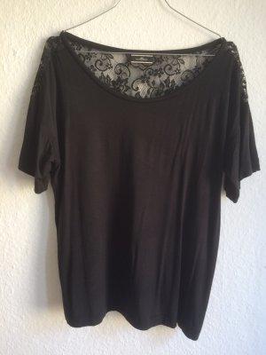 BY MALENE BIRGER schwarzes Oversize-Shirt mit Rücken aus Spitze