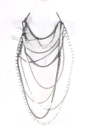 by Malene Birger Statement ketting zwart-zilver extravagante stijl