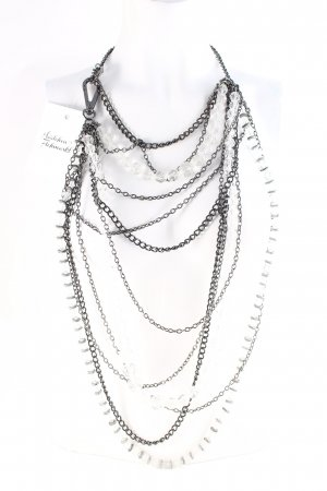 by Malene Birger Statementkette schwarz-silberfarben extravaganter Stil