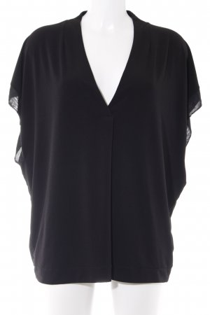 by Malene Birger V-Ausschnitt-Shirt schwarz Business-Look