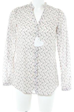 by Mi Long Sleeve Shirt light grey-beige allover print animal print
