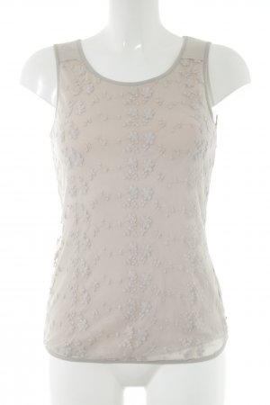 by Ti Mo Basic Top natural white flower pattern casual look