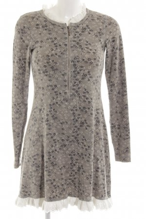 by Ti Mo Longsleeve Dress light grey allover print casual look
