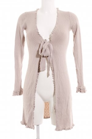 by Ti Mo Strick Cardigan beige Romantik-Look