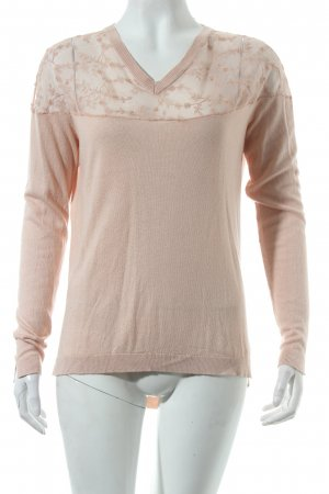 by Ti Mo V-Neck Sweater pink romantic style