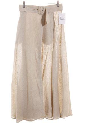 Byblos Falda asimétrica beige estilo gitano