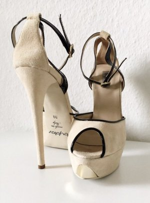 Byblos High-Heeled Sandals cream-nude