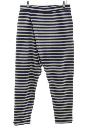 bzr Leggings crema-azul oscuro estampado a rayas estilo extravagante