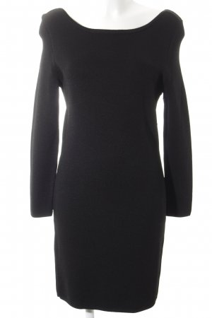 bzr Knitted Dress black casual look