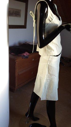 bzr Robe épaules nues vert clair coton