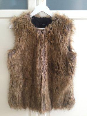 C&A Fur vest brown-light brown