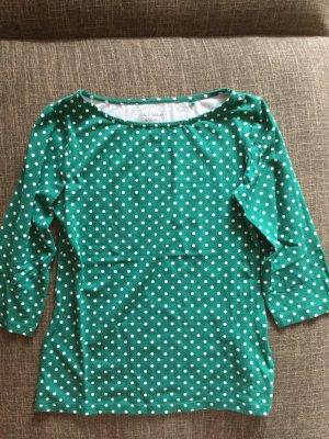 C&A 3/4 Arm Shirt in grün mit weißen Punkten