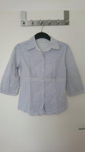 C&A Blusa brillante blanco-azul Algodón